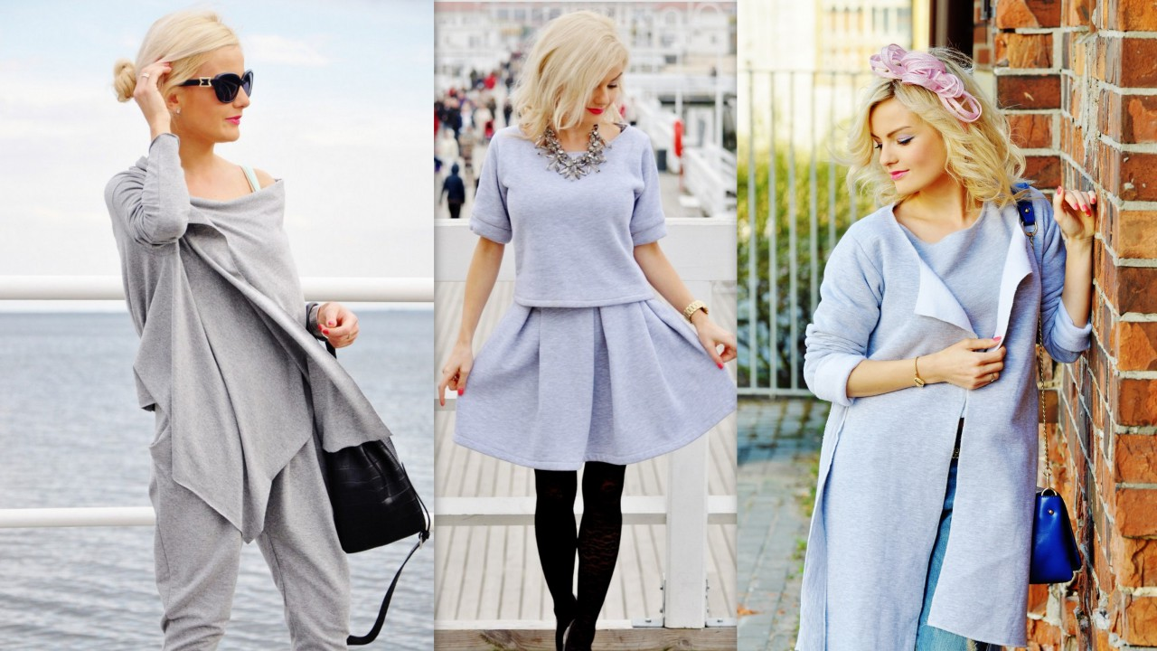 Jak nosi szare dresowe ubrania fashionable blog lifestylowy blog modowy blog Home ubrania