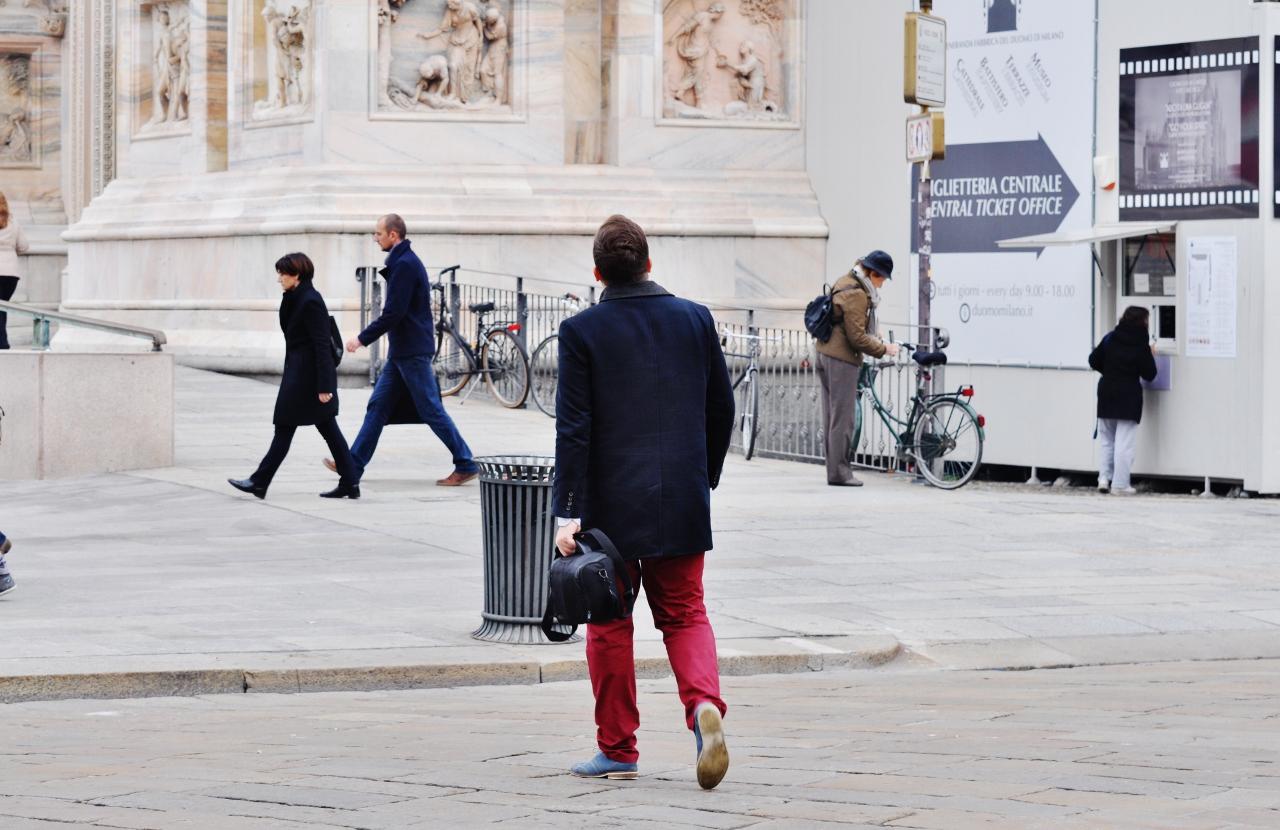 mediolan męskie wiśniowe spodnie