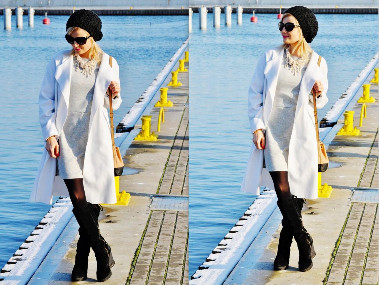 biały płaszcz blog modowy blog urodowy blog liestylowy fashionable gdynia