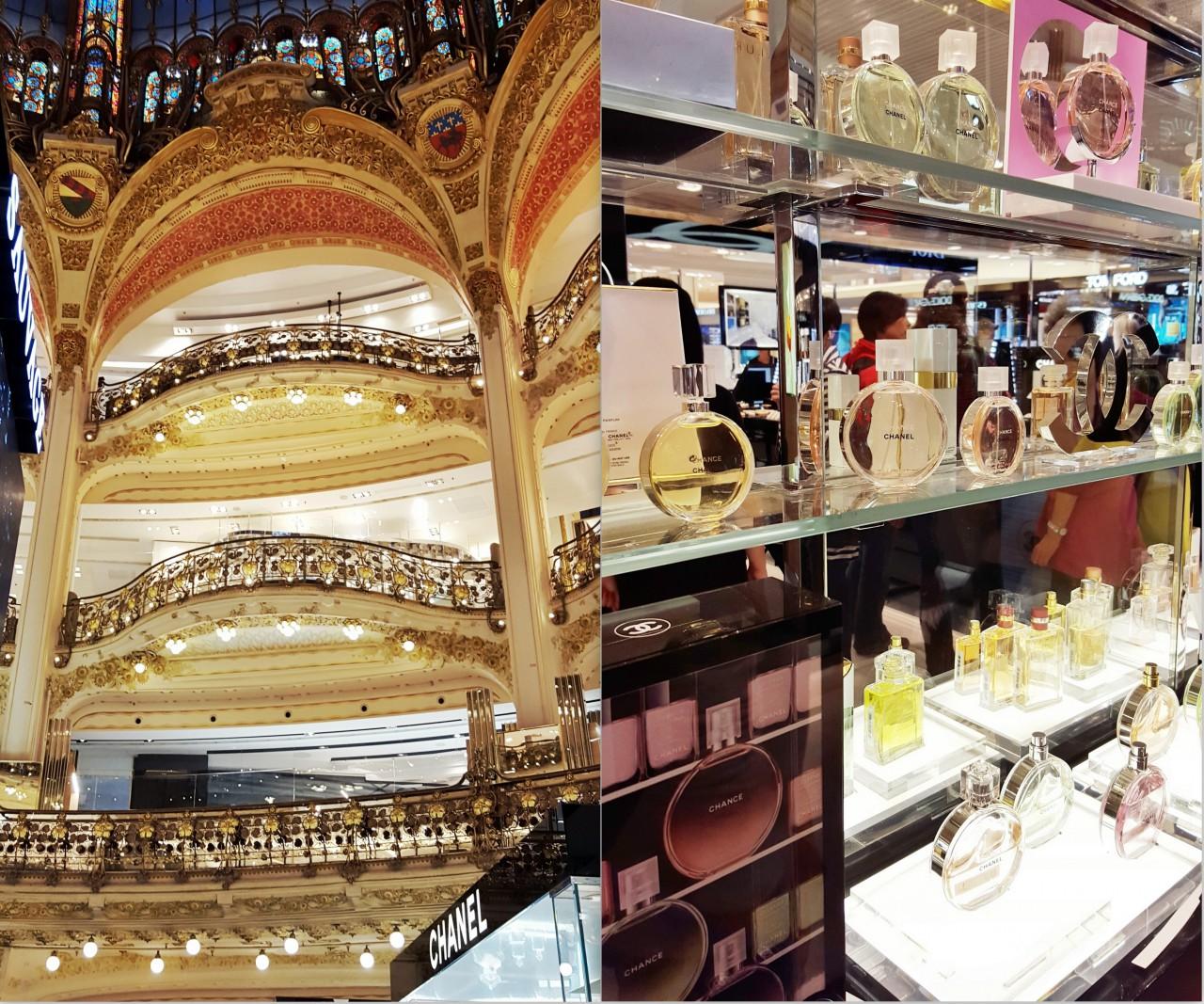 galeria lafayette paryż chanel perfumy