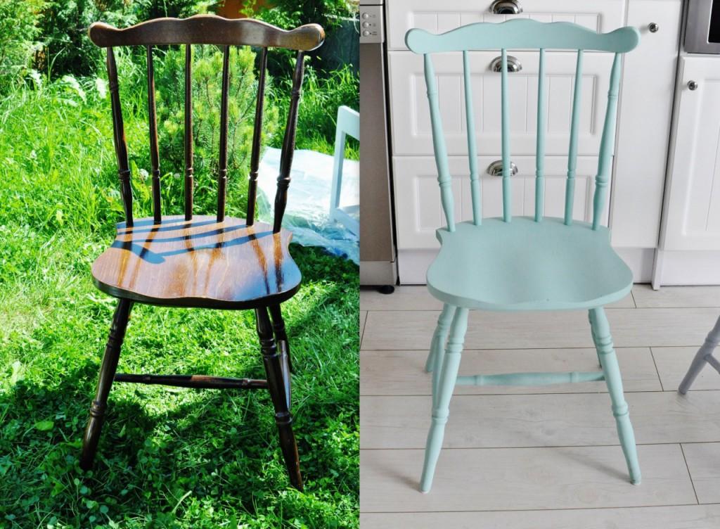 metamorfoza stołu malowanie stołu na biało odnawianie mebli 2