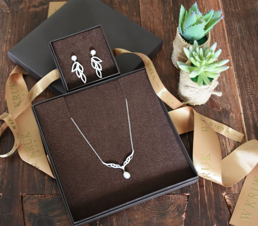 kruk biżuteria ślubna romantyczna kolczyki wiszące2