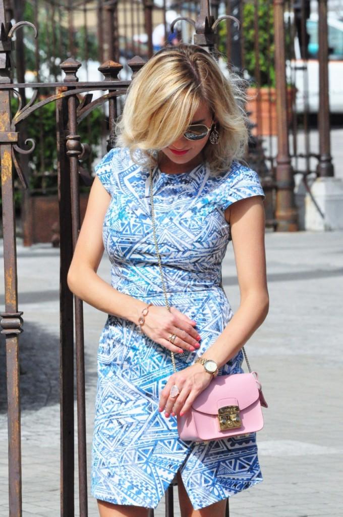 stylizacja niebieska sukienka blog modowy ania zając fashionable com pl11