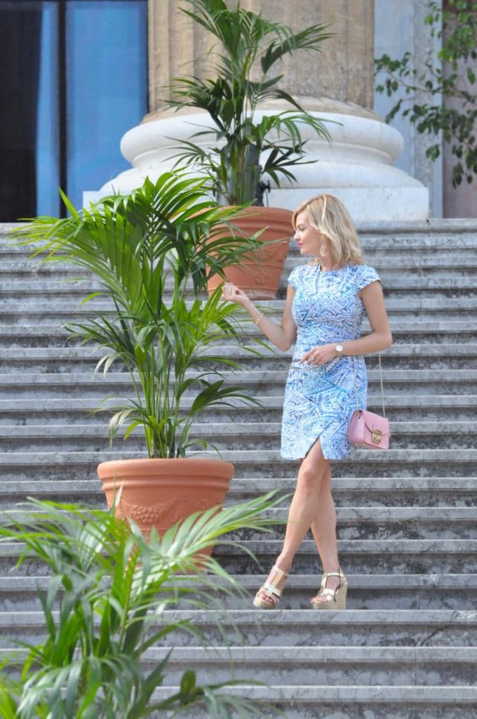 stylizacja niebieska sukienka blog modowy ania zając fashionable com pl28jpg