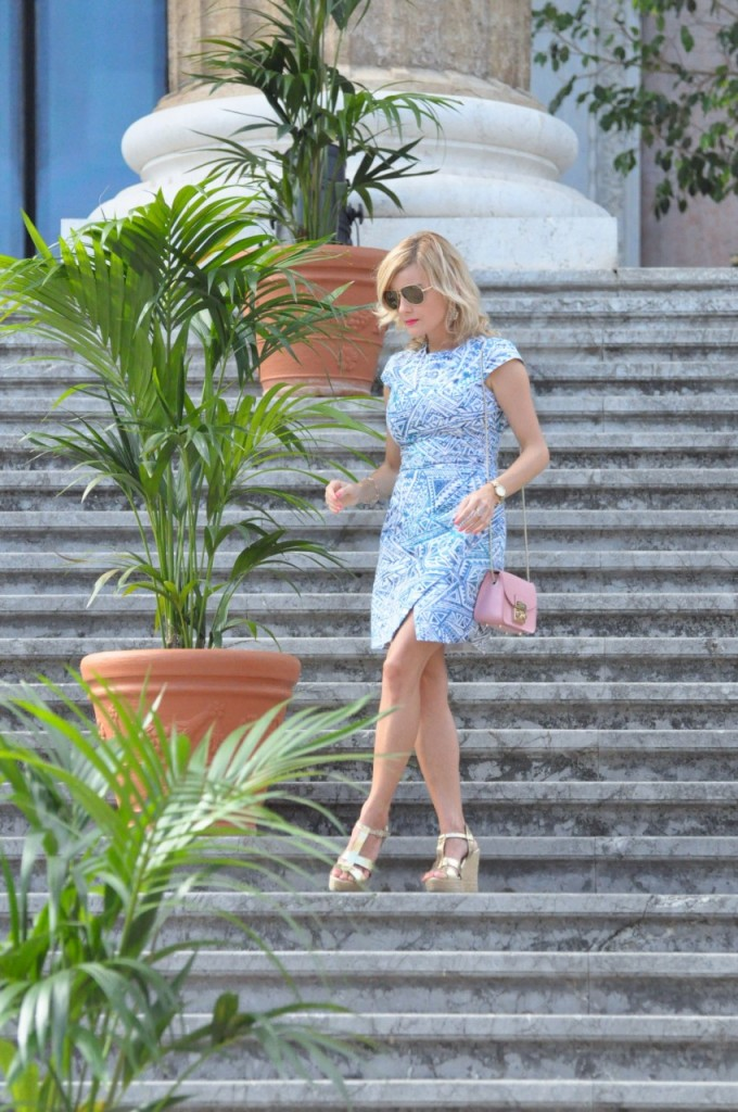 stylizacja niebieska sukienka blog modowy ania zając fashionable com pl31jpg