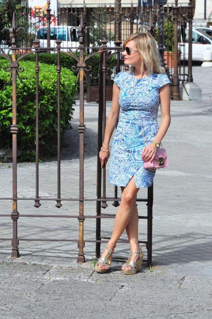 stylizacja niebieska sukienka blog modowy ania zając fashionable com pl8