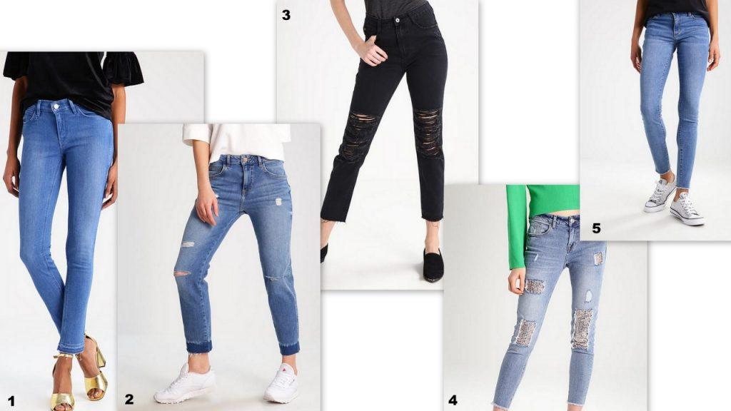 jeansy z postrzępionymi nogawkami trendy wiosna lato 2017