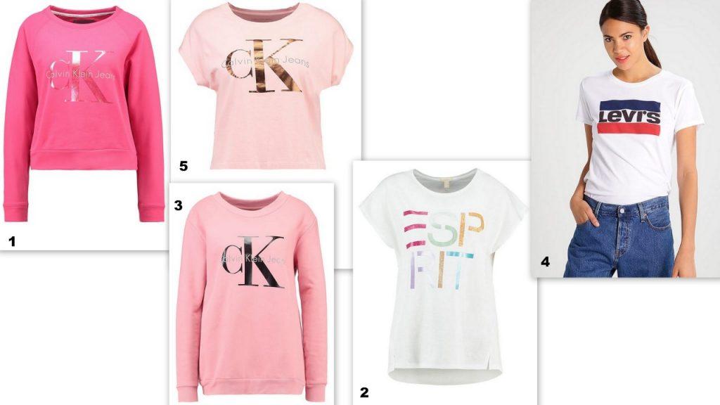 zalando t-shirty i bluzy z nadrukiem trendy wiosna 2017