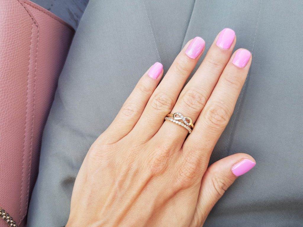 manicure semilac hybryda róż 2