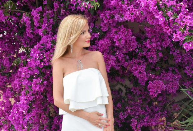 biała sukienka sugarfree stylizacje blog moda anna zając