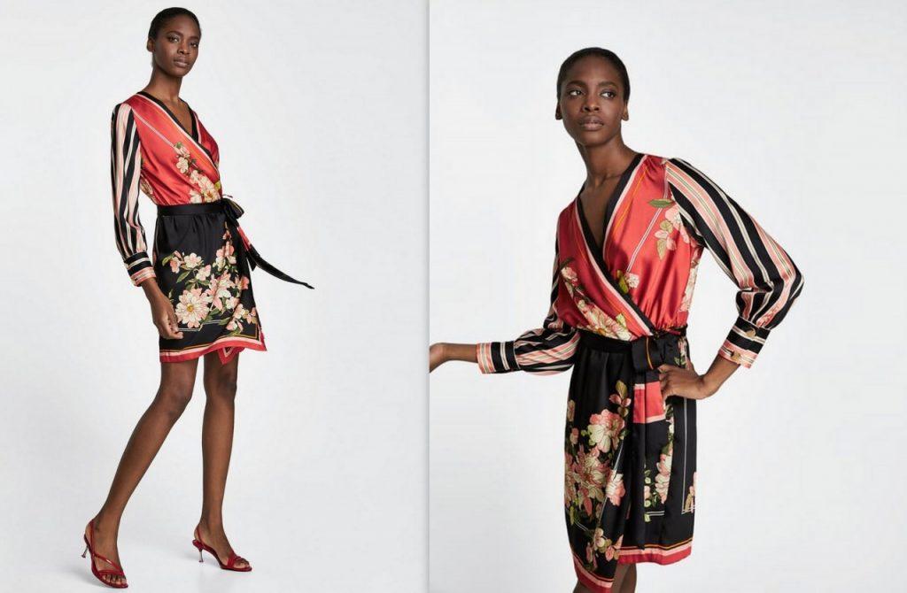 7 sukienka w kwiaty zara