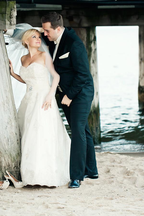ania i jakub zając sesja ślubna sopot plaża