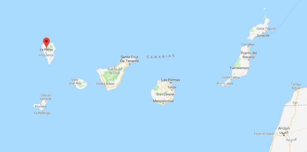 la palma 2 mapa wyspy kanaryjskie