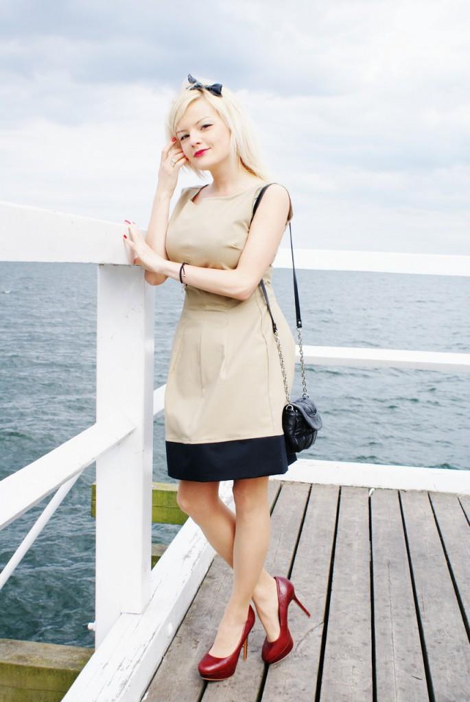 af2bee241c Moja stylizacja – beżowa sukienka TB Sport - Fashionable - Blog ...