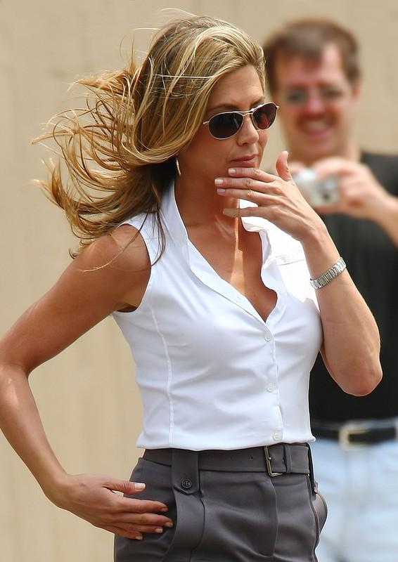 Jennifer Aniston na planie filmu The Bounty