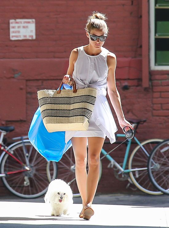 Olivia Palermo Walks Her Dog In NYC