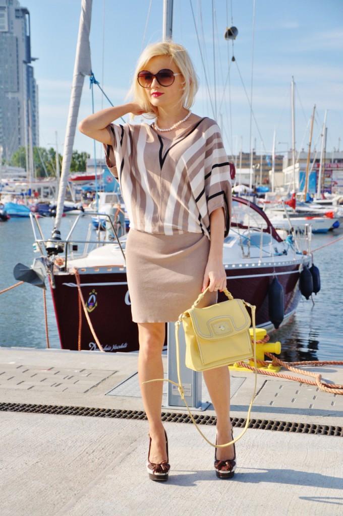 beżowa sukienka gdynia blog modowy