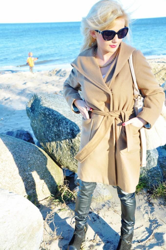 camelowy płaszcz blog modowy tiffi