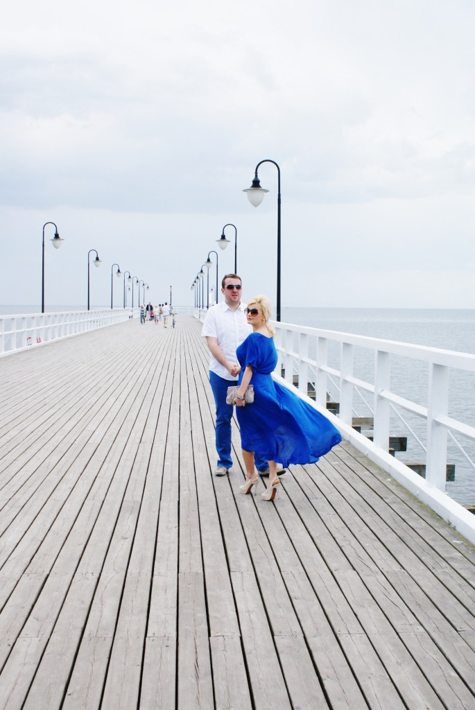 niebieska sukienka blog pary lifestyle