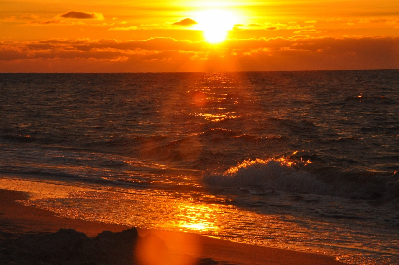 zachód słonca nad morzem blog lifestylowy 2