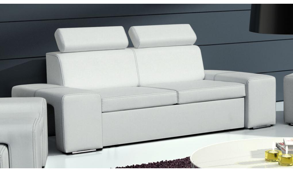 sofa skórzana biała