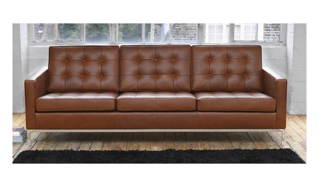 sofa skórzana brązowa