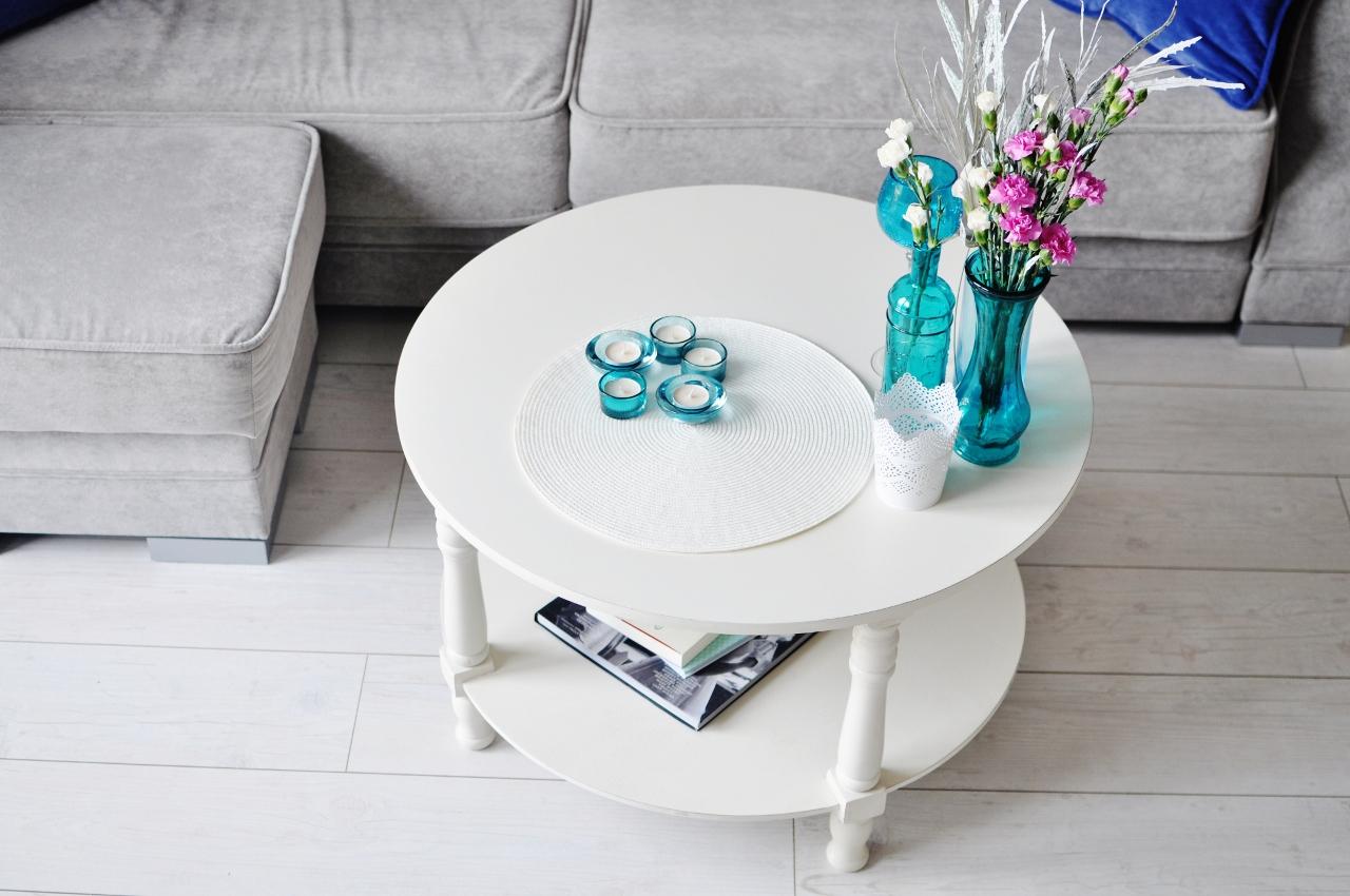 stolik biały kawowy prowansalski