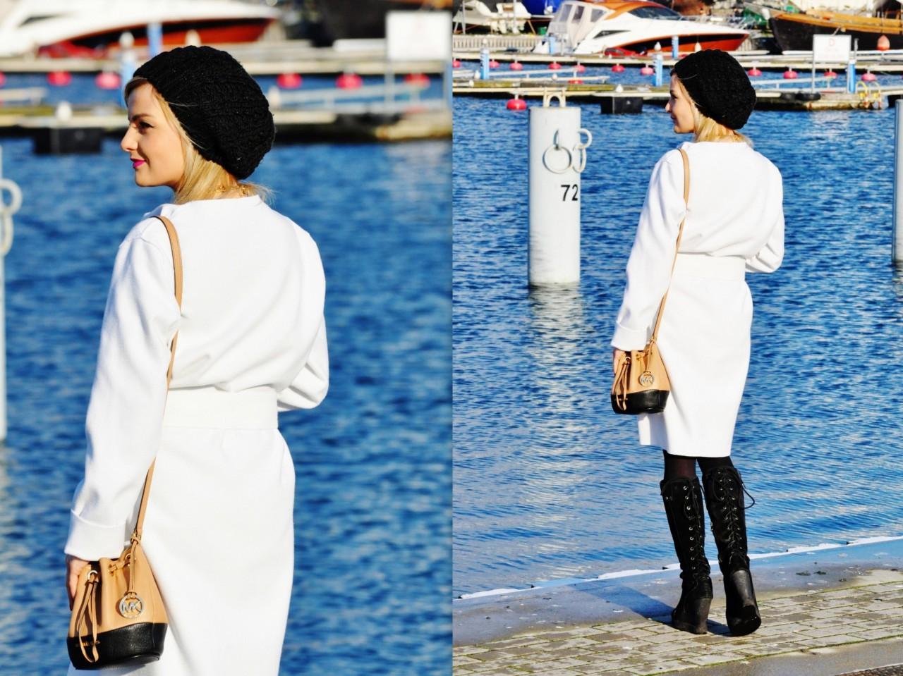biały płaszcz blog modowy blog urodowy blog fashionable gdynia