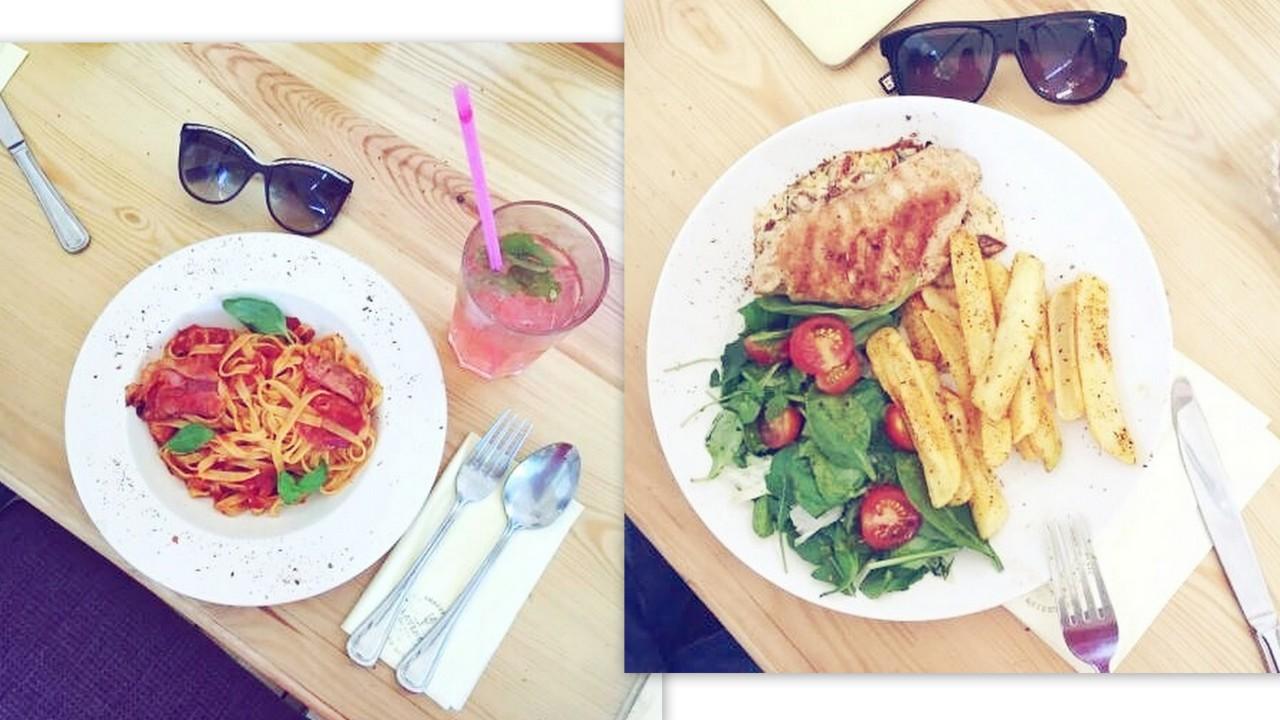 spaghetti z sosem pomidorowym jedzenie w Poznaniu