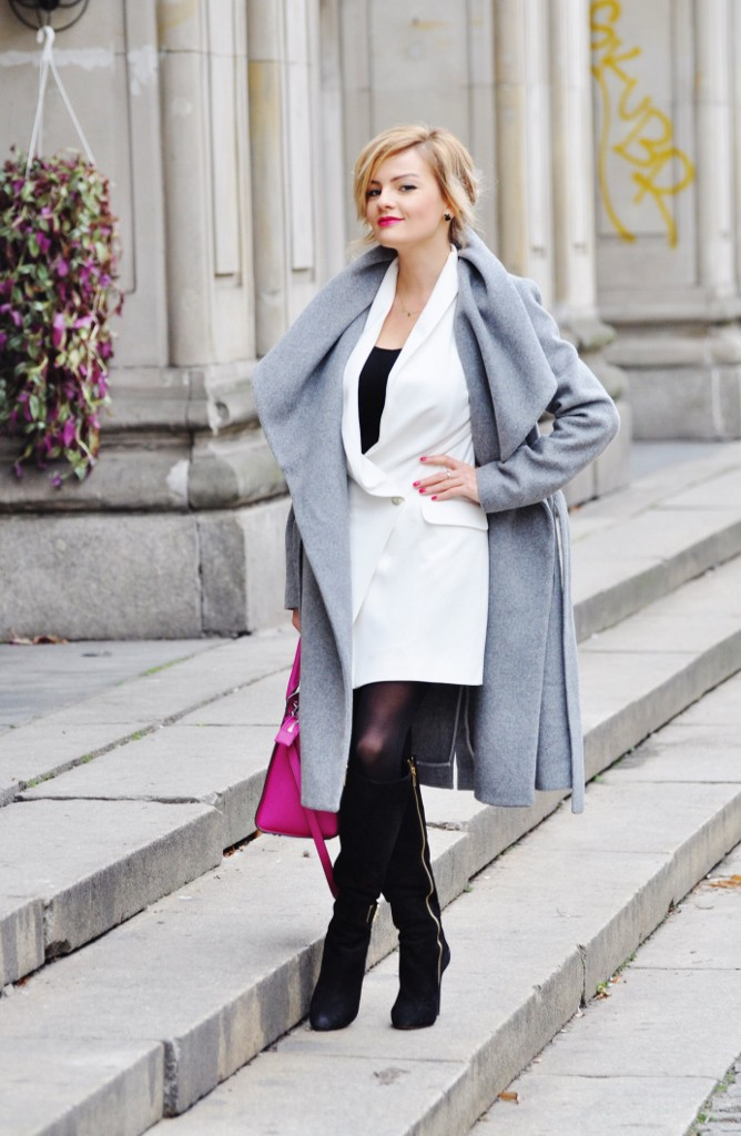 biała sukienka na wigilię blog moda lifestyle ania zając