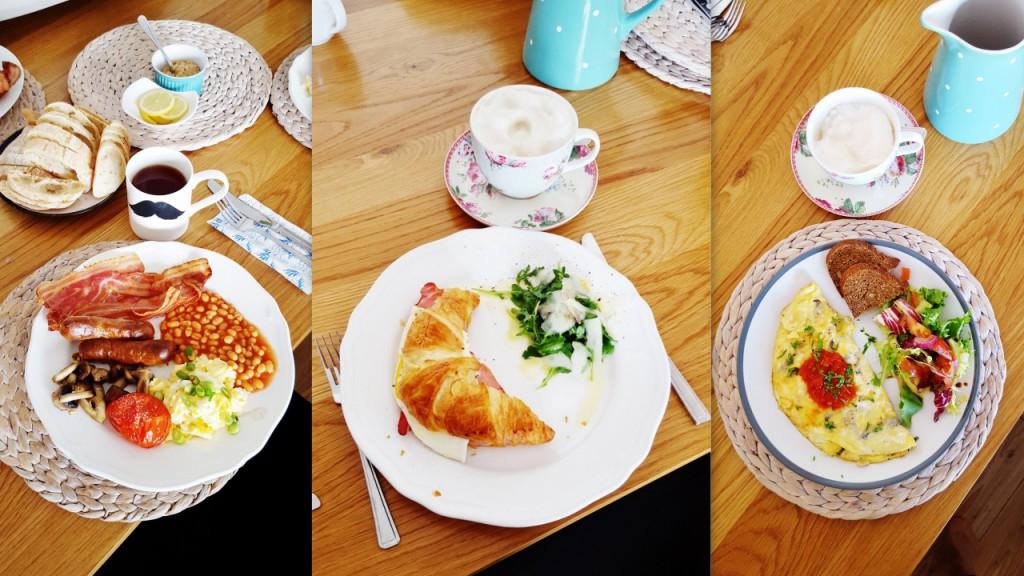 angielskie śniadania w Manchesterze
