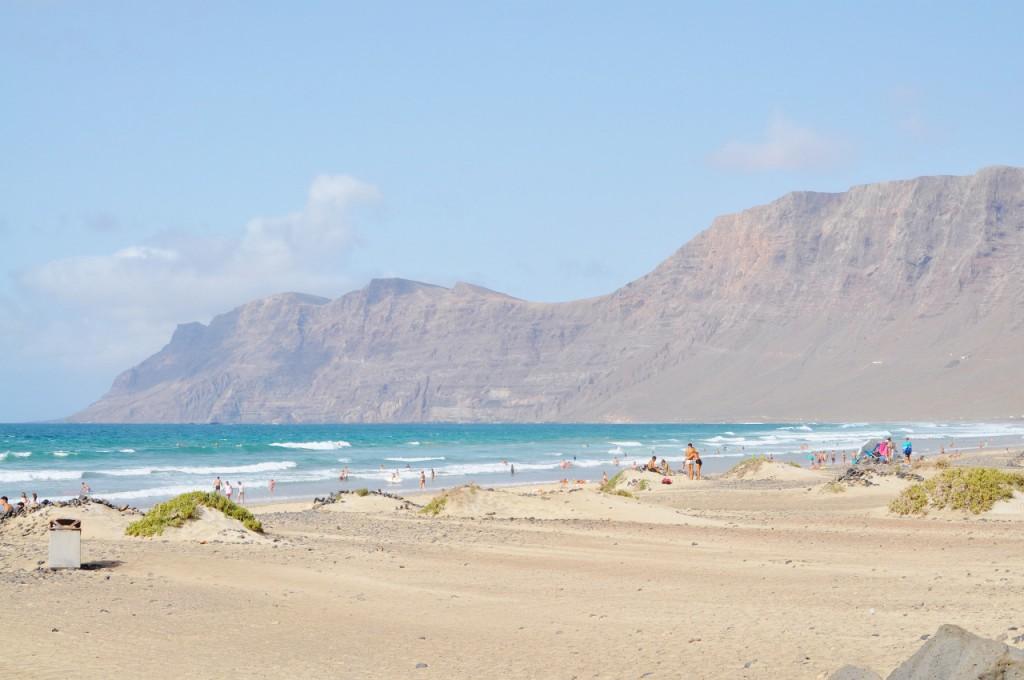 Lanzarote playa Famara blog anna i jakub zając podróże