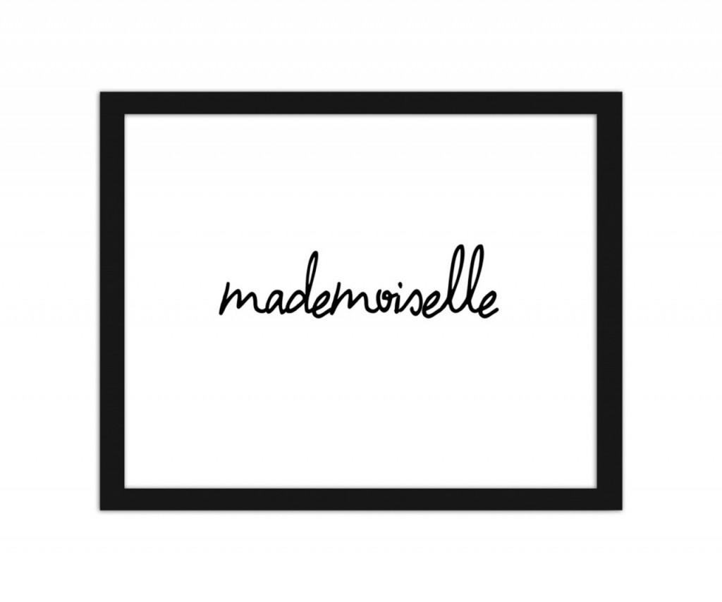 plakaty w ramie grafiki francuskie napisy