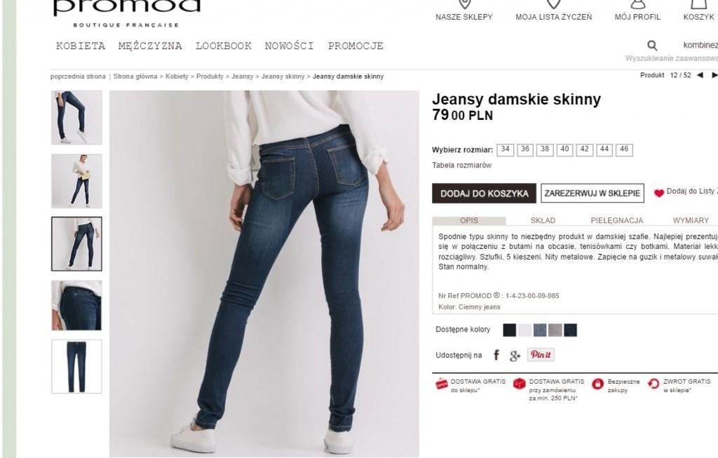 promod jeansy
