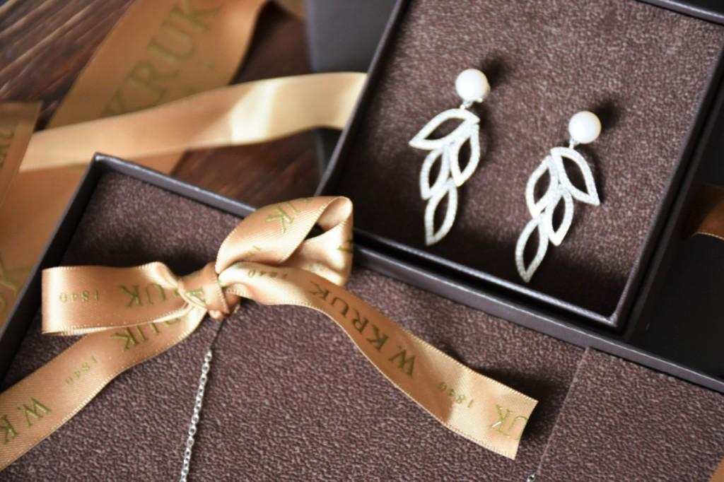 kruk biżuteria ślubna romantyczna kolczyki wiszące