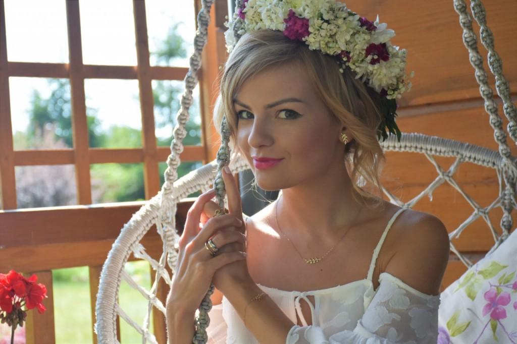 Kruk styl boho rustykalny ślub panna młod10