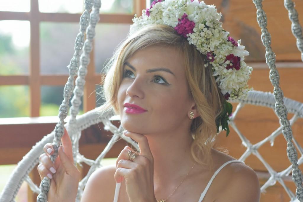 Kruk styl boho rustykalny ślub panna młod14