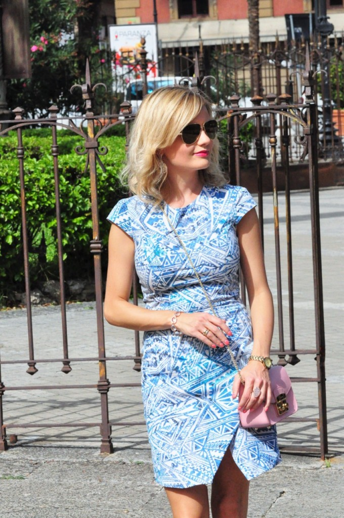 stylizacja niebieska sukienka blog modowy ania zając fashionable com pl12