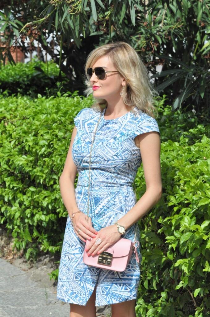 stylizacja niebieska sukienka blog modowy ania zając fashionable com pl14