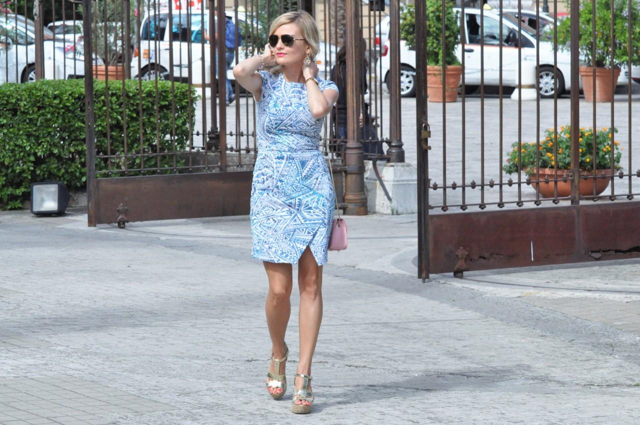 Moja Stylizacja Niebieska Sukienka W Palermo Fashionable Blog