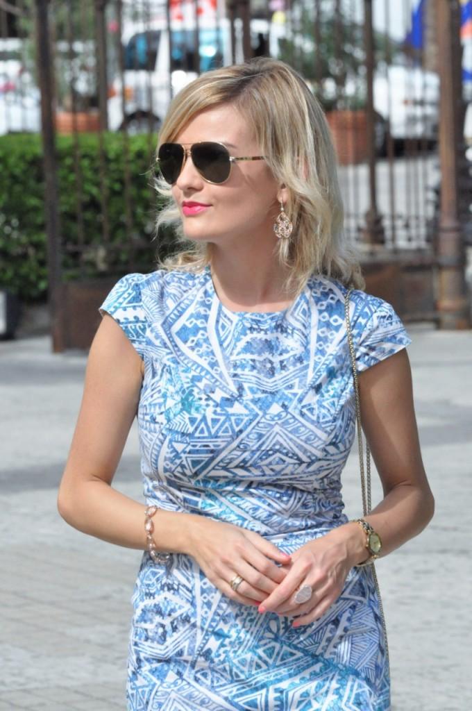 stylizacja niebieska sukienka blog modowy ania zając fashionable com pl27jpg