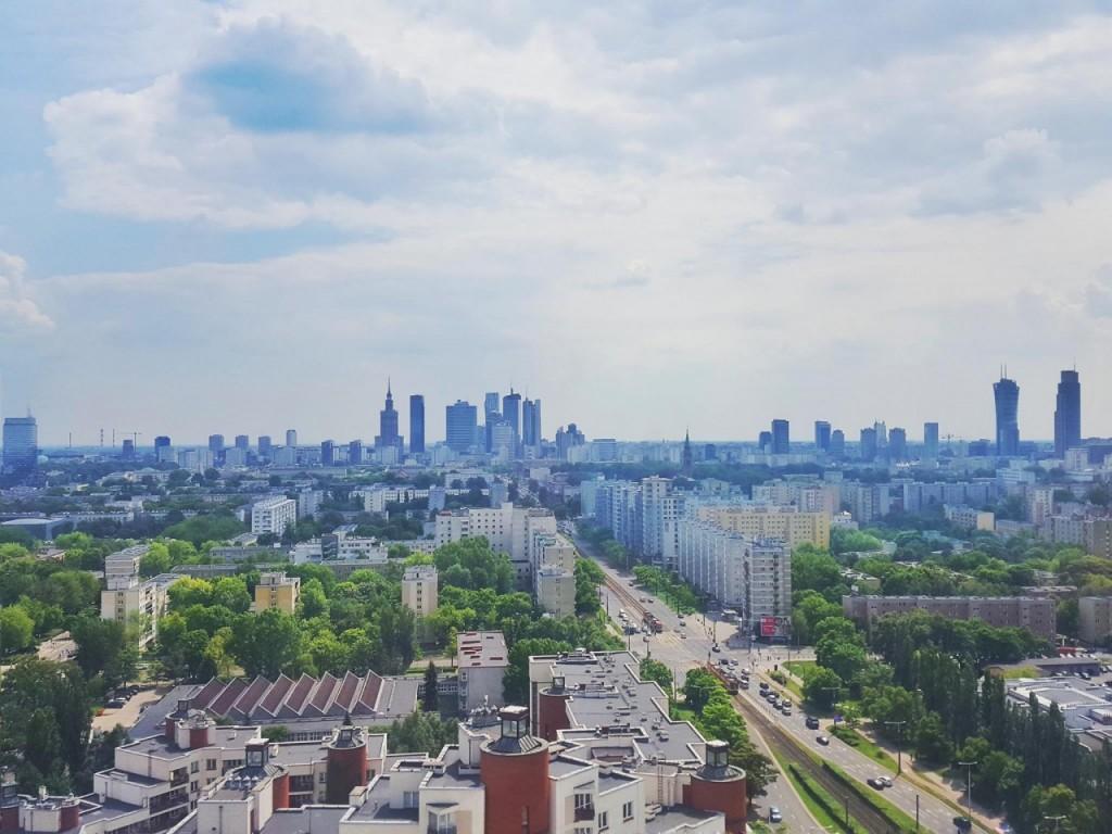 widok na Warszawę