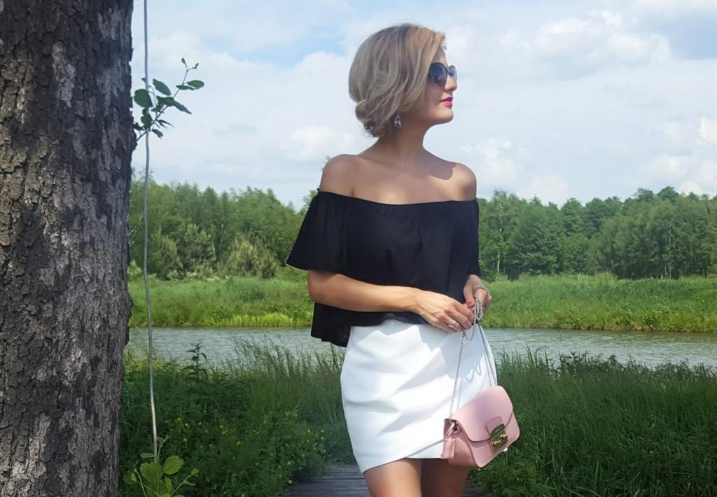 stylizacja Apart biała spódnica artelioni 19
