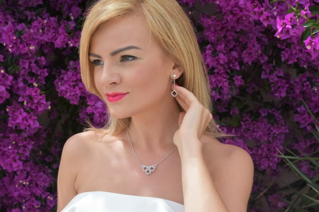 stylizacja nowoczesna panna młoda ślubna biżuteria W.KRUK71pg