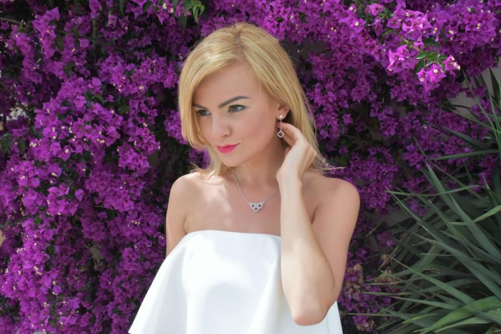 stylizacja nowoczesna panna młoda ślubna biżuteria W.KRUK72pg