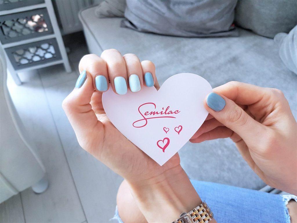 manicure hybdydowy semilac niebieski