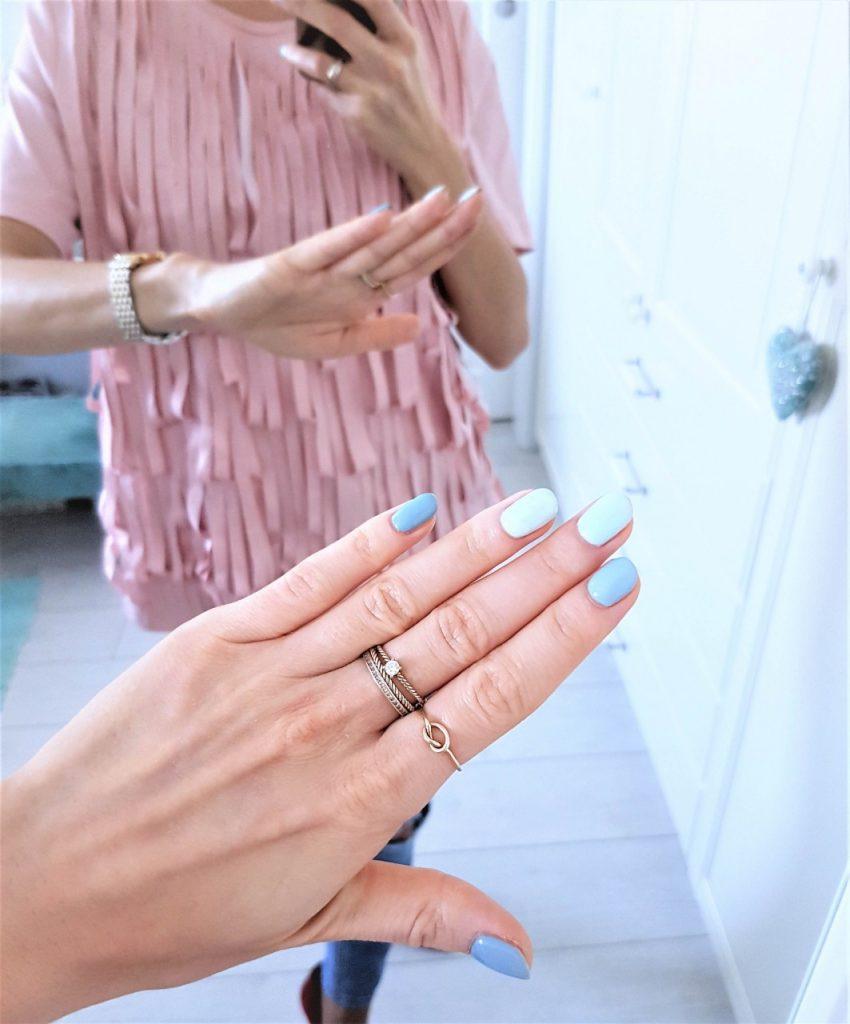 manicure hybdydowy semilac niebieski2