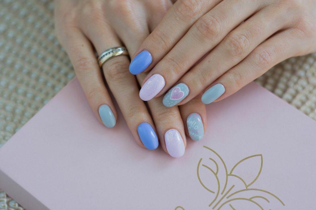 manicure hybrdyowy semilac pastele i wzory inspiracje blog urodowy moda2