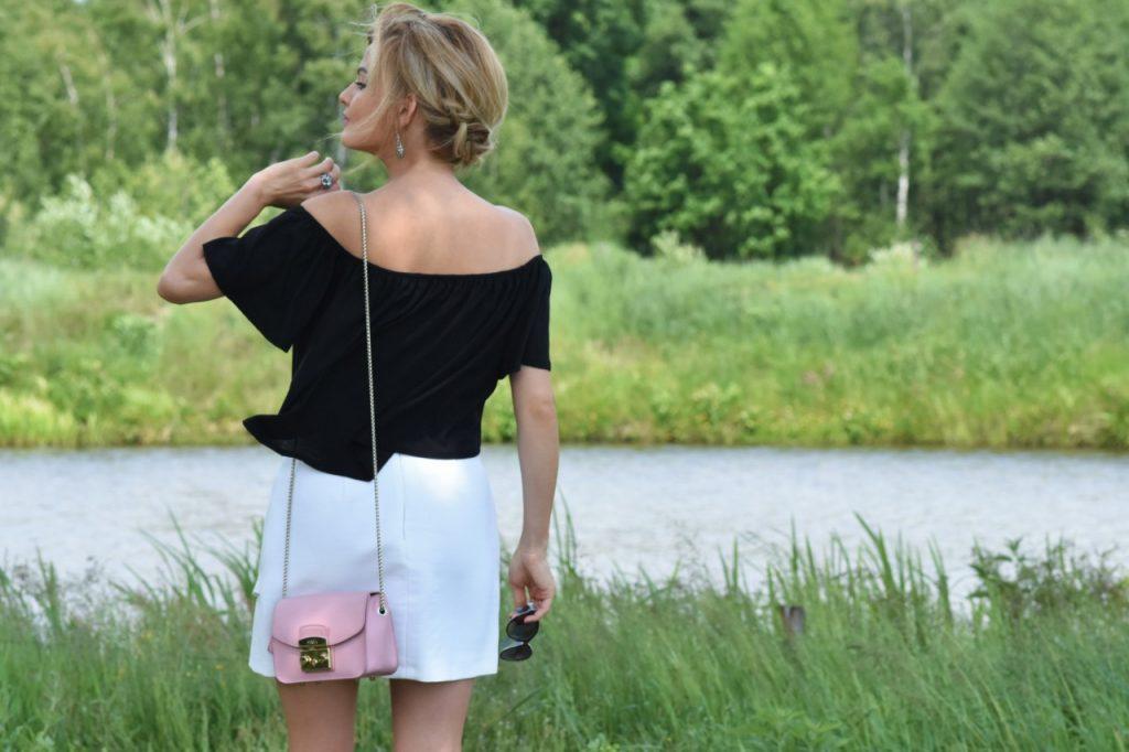 biała spódniczka zara blog modowy stylizacje