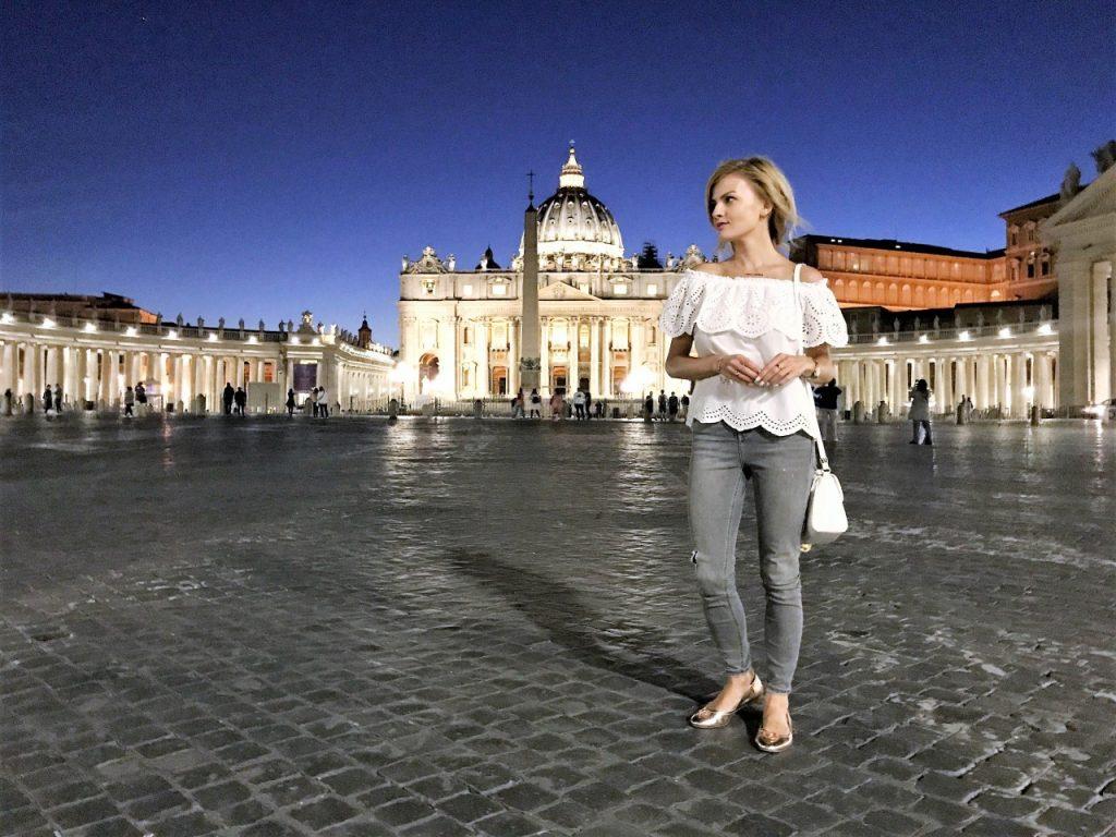watykan zwiedzanie Rzymy nocą